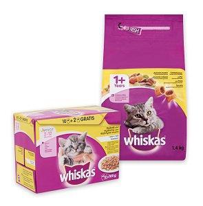 Whiskas nedves és száraz eledel 12x100g/1,4 kg (többféle) Pl. tasak MP 12x100g