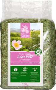 REAL NATURE zöld réti széna rózsás 750g