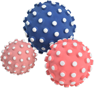 AniOne latex labda kék, rózsaszín, piros 9 cm