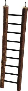 AniOne madárlétra természetes fa 9 fokos 39 cm