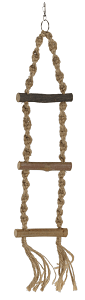 AniOne madárlétra kötélből 3 fokos 40 cm