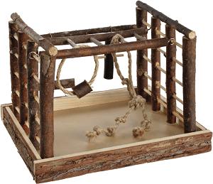 AniOne madár játszótér természetes fa 35x29x25 cm