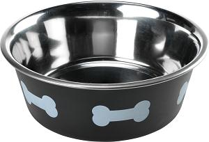 AniOne fém tál mancsos fekete/fehér 1750 ml