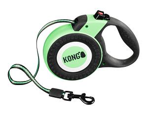 KONG csévélő póráz Reflekt zöld M 5m