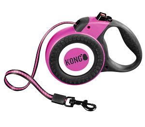 KONG csévélő póráz Reflect pink L 5m