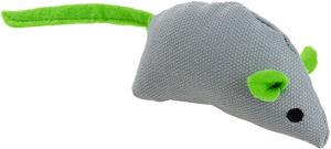AniOne cicajáték vászonegér zöld 9 cm