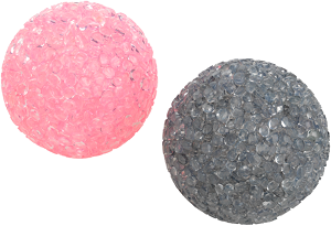 AniOne cicajáték glitteres labda 2db 5 cm