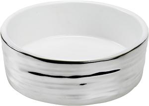 AniOne kerámiatál hullám ezüst/fehér 350 ml