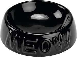 AniOne kerámiatányér Meow fekete 200 ml