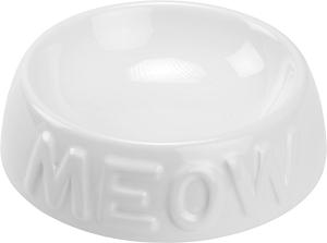 AniOne kerámiatányér Meow fehér 200 ml