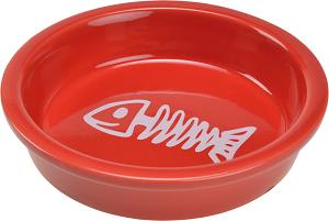 AniOne kerámiatál halcsont piros 200ml