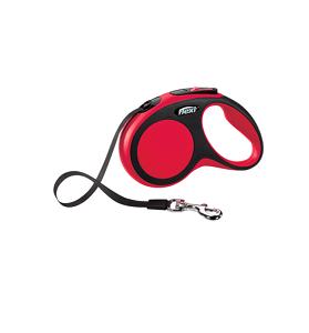Flexi New Comfort szalagos piros L 5m
