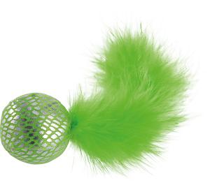 fit+fun cicajáték labda tollal 5cm