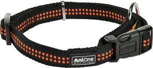 AniOne kutya nyakörv Comfort fekete L 40-63 cm