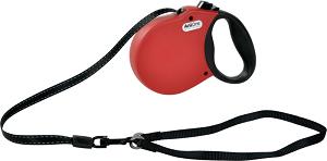 AniOne csévélő póráz puha fogó piros M 5m