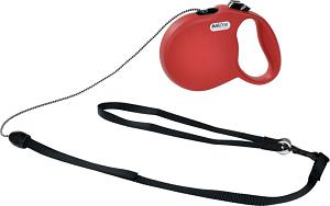 AniOne csévélő póráz Basic zsinóros piros S 5m