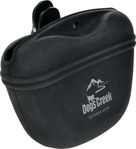 DOGS CREEK jutalomfalat-tartó szilikon fekete 12x10 cm