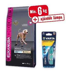 Min. 6 kg vásárlása esetén AJÁNDÉK lámpa – EUKANUBA száraz eledel (kutya/többféle) Pl. Large Breeds adult bárány&rizs 12kg