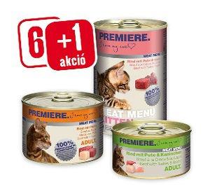 6+1 AKCIÓ – PREMIERE Meat Menu konzerv (macska) 100g/200g/400g Pl. 100 g