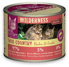 6+1 AKCIÓ - Real Nature Wilderness konzerv (macska) 200g (az ár 6+1 db vásárlása esetén)
