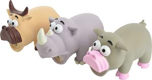 AniOne kutyajáték rino+tehén+malac 14 cm