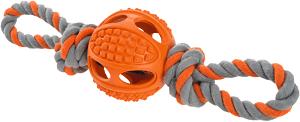 AniOne kutyajáték labda kötéllel S 6 cm