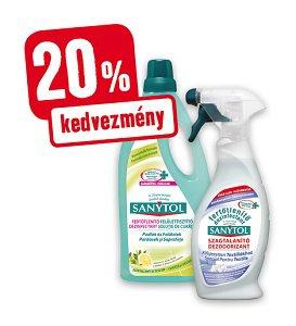 20% kedvezmény – Sanytol fertőtlenítő (többféle)