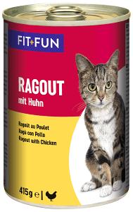 FIT+FUN konzerv ragu adult csirke 415g