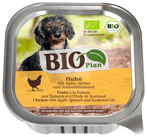 BIOPLAN tálka adult csirke&alma 150g