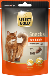 SELECT GOLD Sens snack adult csirke Hair&Skin 75g