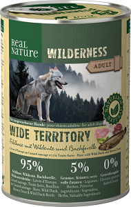 REAL NATURE WILDERNESS konzerv adult wide territory 400g