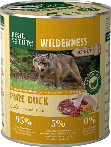 REAL NATURE WILDERNESS konzerv adult pure kacsa 800g