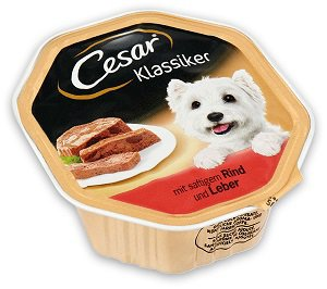 CESAR tálkás/tasakos nedves eledel, kutya (többféle) Pl. tálkás 150g