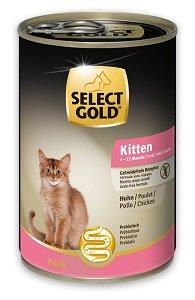 SELECT GOLD Sensitive Hair&Skin kitten konzerv 200g