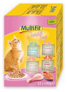 -20% a legnépszerűbb MultiFit macska eledelekre Pl. MultiFit tasak MP zselé Junior time 12x100g