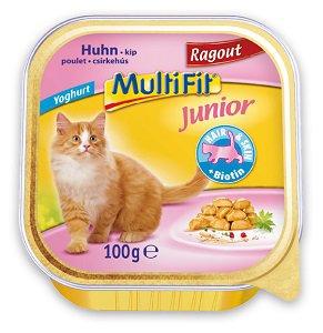 -20% a legnépszerűbb MultiFit macska eledelekre Pl. MultiFit tálka ragu Junior csirke 100g