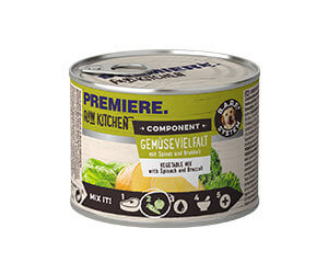 PREMIERE Raw konzerv spenót&brokkoli 200g