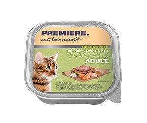 PREMIERE Cats Love Nature Deluxe paté tálka adult csirke&lazac 100g