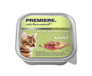 PREMIERE Cats Love Nature Deluxe paté tálka adult vad&nyúl 100g