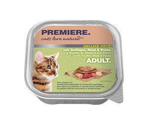 PREMIERE Cats Love Nature Deluxe paté tálka adult szárnyas&marha 100g