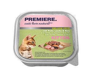 PREMIERE Cats Love Nature Deluxe paté tálka kitten pulyka&lazac 100g