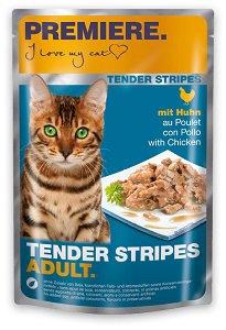 PREMIERE Tender Stripes tasakos macska eledel 85g