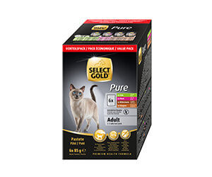 SELECT GOLD Pure tasak MP adult egzotikus 6x85g