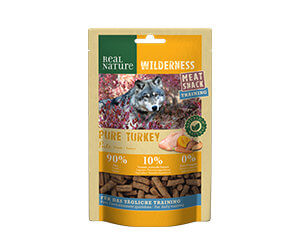 Real Nature Wilderness Meat Snack train.minis pulyka 150g