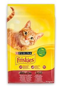 Friskies macska száraz eledel 10kg (többféle) Pl. hús&csirke&zöldség 10kg