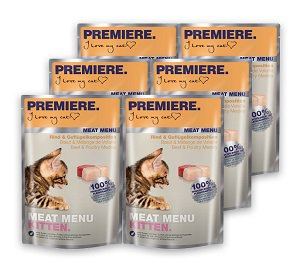 6 db PREMIERE Meat Menu tasakos nedves eledel 85g vásárlása esetén 1 db ára: