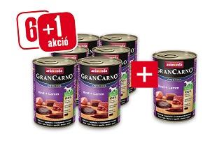 6+1 esetén – GRANCARNO konzerv 400 g (többféle) Pl. Adult marha&szív 1 db ára: