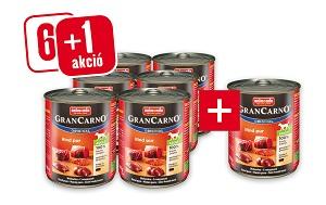 6+1 esetén – GRANCARNO konzerv 800g (többféle) Pl. Adult marha&bárány 1 db ára: