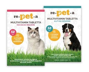 REPETA kiegészítő eledelek (többféle) Pl. Tabletta multivitamin cica 50db