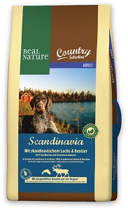 REAL NATURE Country száraz eledel (többféle) Pl. Scandinavia adult lazac&rénszarvas 12kg